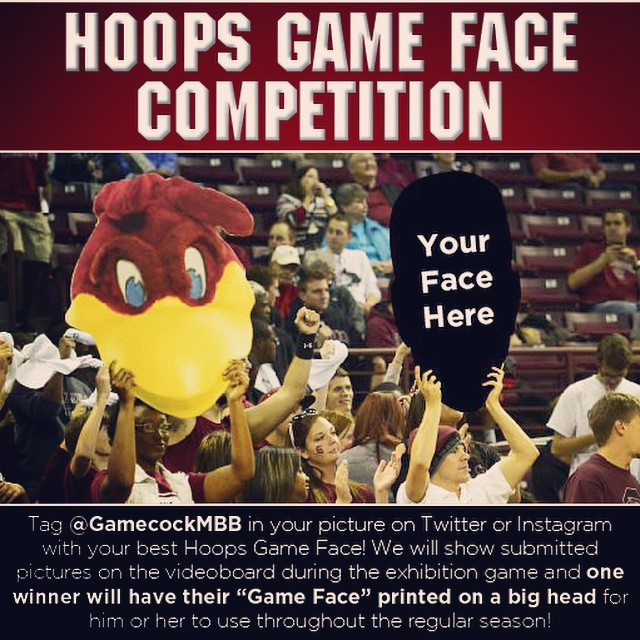Have YOU submitted your Hoops Game Face? Tag us in your photos on Instagram or Twitter for the chance to have your game face made into a big head for use throughout the season! All submitted photos will be displayed on the video board and the winner will be announced during the exhibition game!