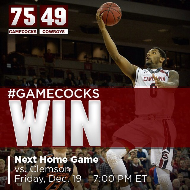 #Gamecocks WIN! Big win over previously undefeated Oklahoma State today. Next up Clemson - be here!