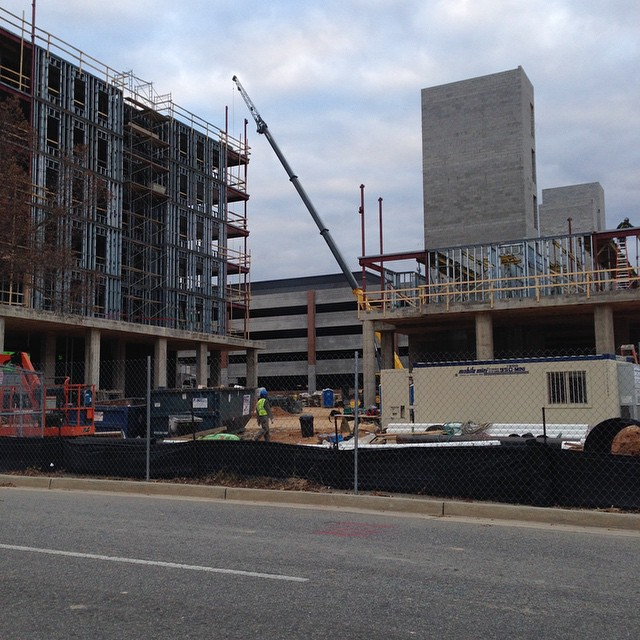 New dorm construction - pretty amazing how quickly this is going up #Gamecocks