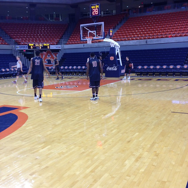 Getting some shots at Auburn Arena #Gamecocks