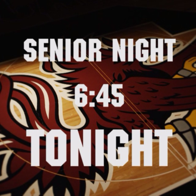 Get to your seats early for Senior Night tonight! #Gamecocks
